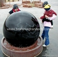 polished black granite ball sphere globe