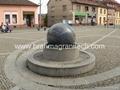 Pool Centerpiece black Granite Sphere on Solid Black Granite Base  2