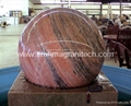 Gray granite Sphere with on rock solid base  2