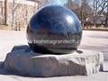 largest black granite sphere fountain