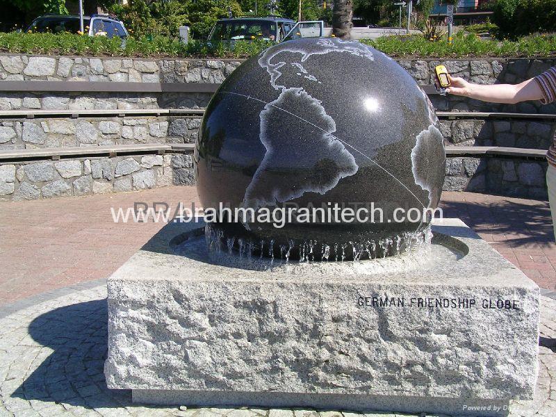 granite memorial ball,sphere monument,globe monument 1