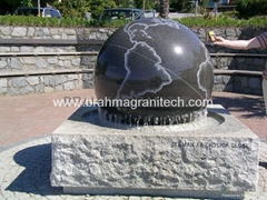 granite memorial ball,sphere monument,globe monument