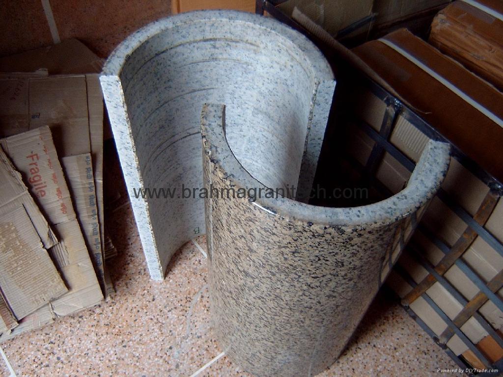 Granite Stone Columns : Natural stone hollow column pillar columns brahma