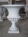 Garden marble planter