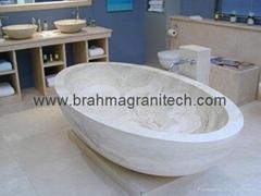 sandstone bathroom bathtub and marble bathtub