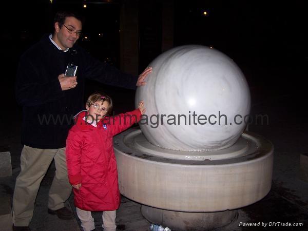 limestone ball fountain.sphere fountain,ball fountain 2
