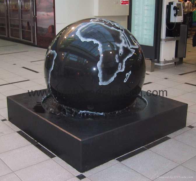large stone ball fountain,giant ball sphere globe fountain  2