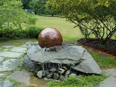 ROCK FOUNTAIN SPHERE,rock fountain,rock water feature