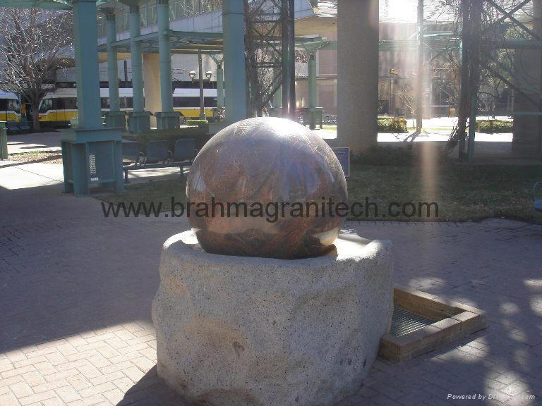 sphere water fountain,sphere water features,globe water features 2