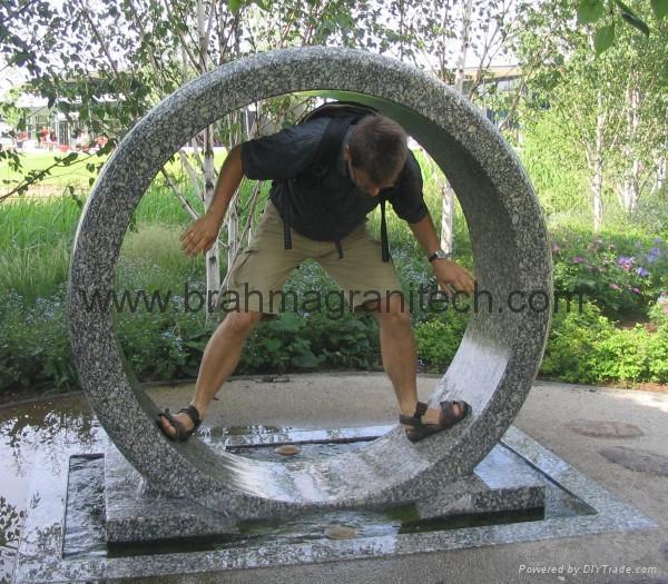 Rolling wheel water features,garden water feature 1