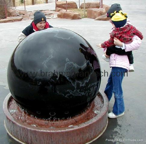 Black Granite spheres,stone water feature,marble water features 2