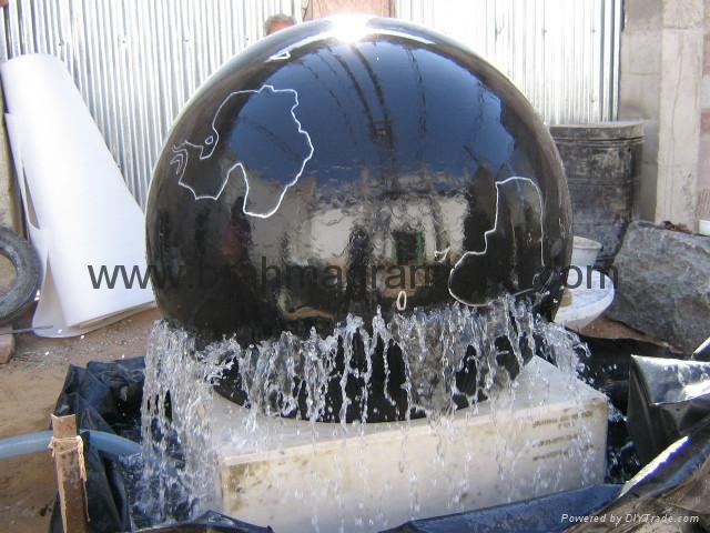 BLACK GALAXY BALL SPHERE FOUNTAIN 2