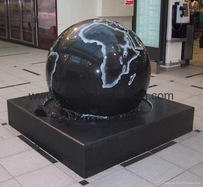 flytende granitt Globes, rullende ball fontene, stein ball, marmor ball, granit