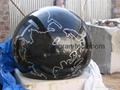 Black stone balls, Granite water globe,