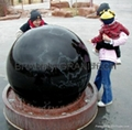black granite spheres