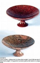 granite fruit bowl Stein frucht schüssel ciotola della drupacea