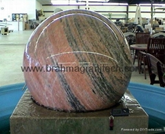 granite floating sphere water fountain ball  water feature
