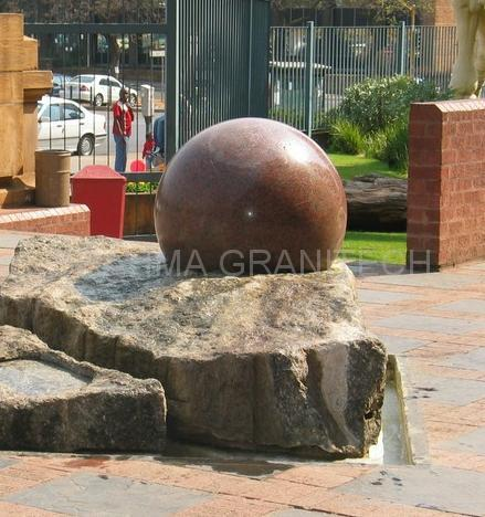 black sphere fountains,stone rotate ball fountain 3