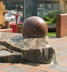 black sphere fountains,stone rotate ball fountain