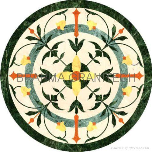 Indian Stone Inlay Marble Inlay Table Top Medallions Borders accent 1