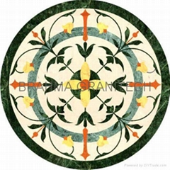 Indian Stone Inlay Marble Inlay Table Top Medallions Borders accent