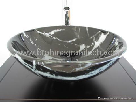 black marble sink