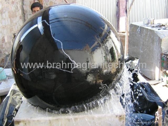 floating granite sphere