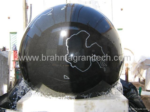 floating granite ball