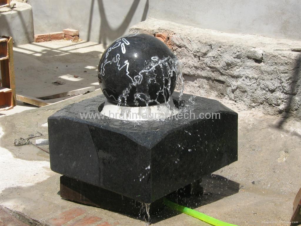 garden ball fountain