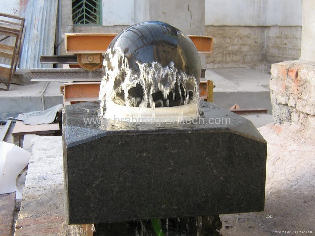 garden stone sphere fountain