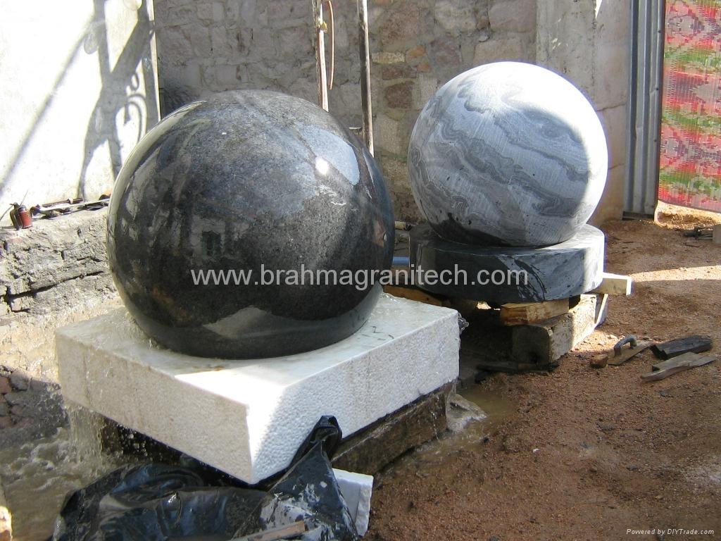 landscape sphere fountain