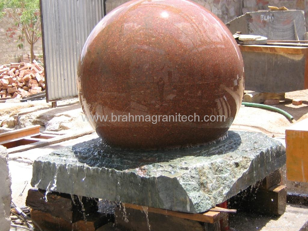 Rolling sphere fountain,Rolling sphere water features 3