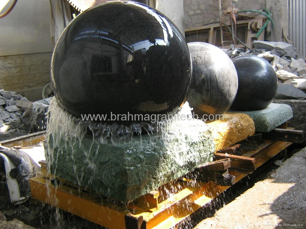 fountain spheres,rolling sphere fountains,sphere water fountains 3