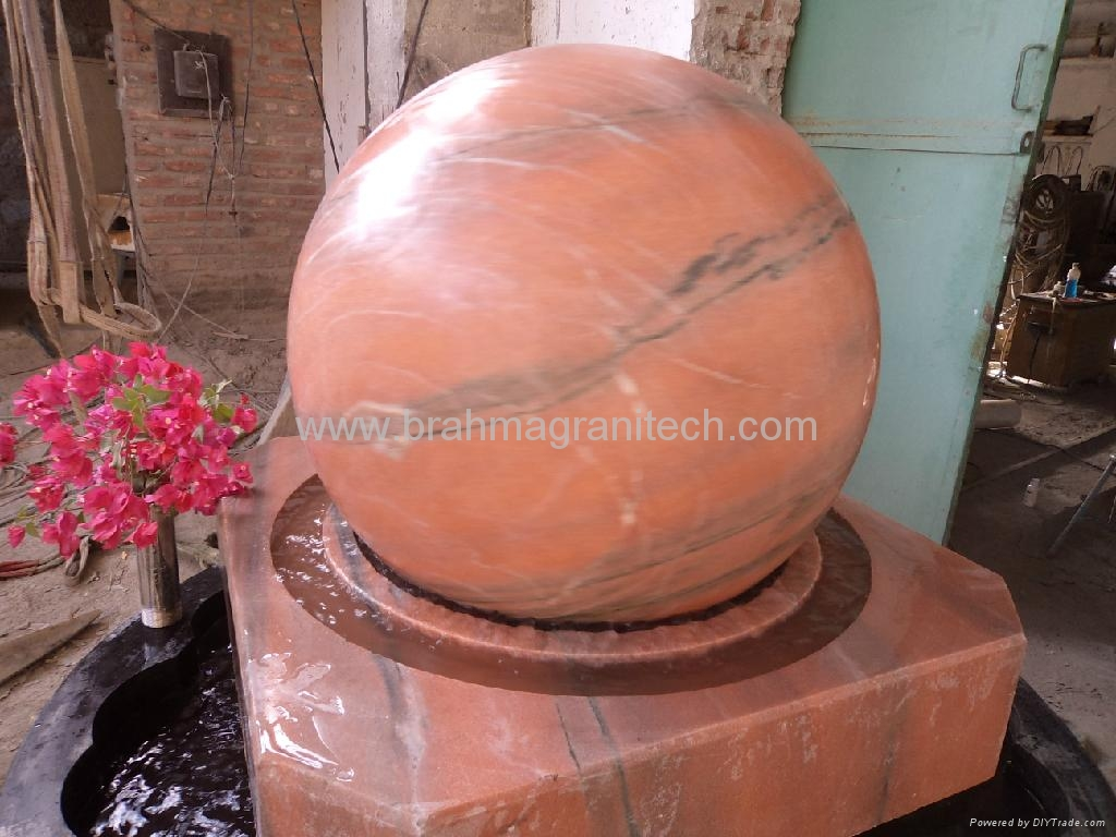 sphere fountains,garden fountain with sphere,sphere water fountains 5