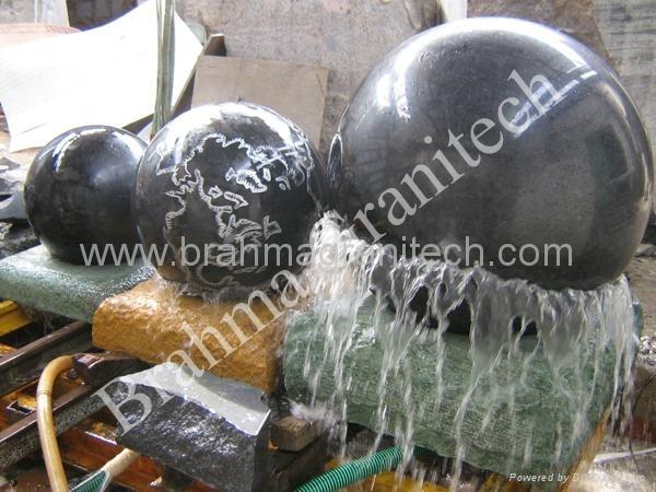 Плавающие шары гранита
