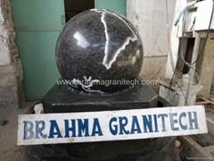 black granite spheres Revolving ball fountain Floating ball fountain