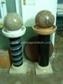 Fontanna Kulowa,Obracająca się kula ,Granitowa kula 3