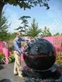 large granite sphere