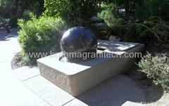 FONTAINE GRANIT SPHÈRE FLOTTE, fontaine de boule