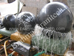 granite stone orbs rolling  ball fountain garden sphere water feature