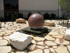fountain stone ball, Natural Stone fountain kugel, Ball Fountain