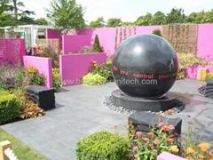 Black stone balls