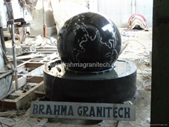 floating granite globe, floating marble globe, Rotating stone globe, Fountain