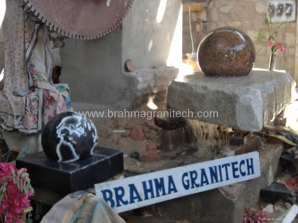 Black Granite spheres,stone water feature,marble water features 4