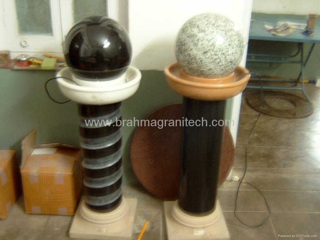 moving ball fountain,stone ball,rolling ball,fountain ball 2