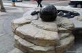 moving ball fountain,stone ball,rolling ball,fountain ball 5