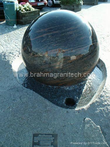 rotating stone sphere,water fountain ball 2