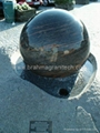 rotating stone sphere,water fountain
