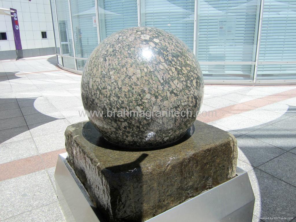 Granite Stone Product : Large sphere sculptures ball sculpture india