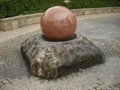 Pool Centerpiece black Granite Sphere on